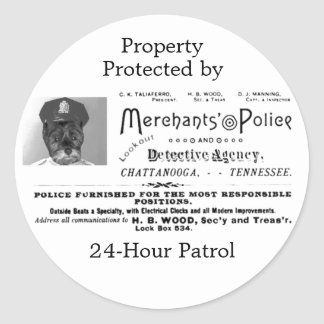 Merchant's Police and Detective Agency Classic Round Sticker
