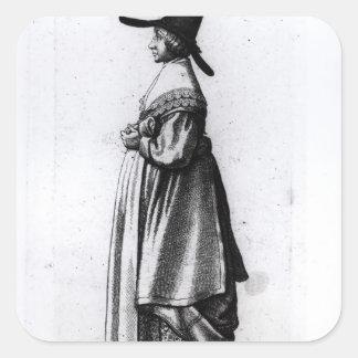 Merchant's Wife, 1640 Square Sticker