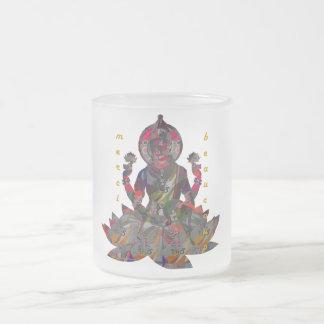 Merci Beaucoup 10 Oz Frosted Glass Coffee Mug