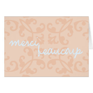 Merci Beaucoup 1 Stationery Note Card