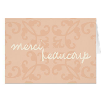 Merci Beaucoup 2 Stationery Note Card