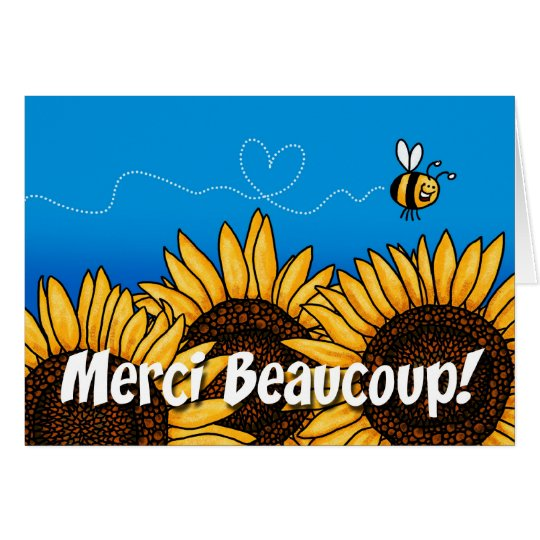 merci beaucoup! (French Thank you card) Card