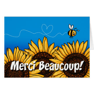 merci beaucoup! (French Thank you card) Greeting Card