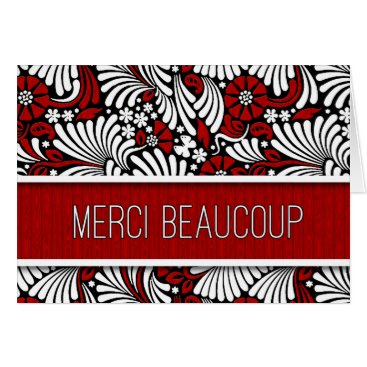 Professional Business Merci Beaucoup French Thank You Red Fern Blank Card