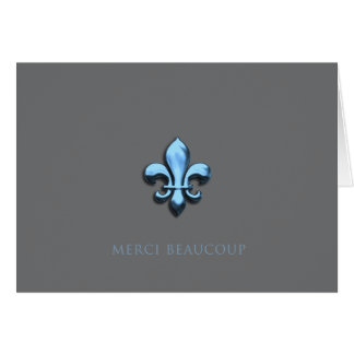 Merci Beaucoup in Blue (Thank You Very Much) Stationery Note Card
