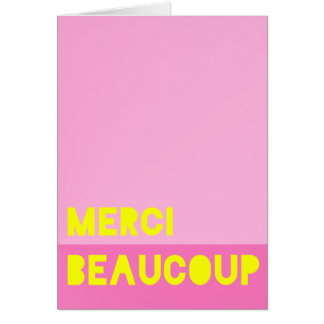 Merci Beaucoup Stationery Note Card