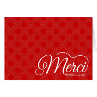 Merci Beaucoup Thank You Notecard Stationery Note Card