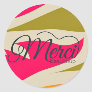 Merci Beaucoup Thank You Stickers