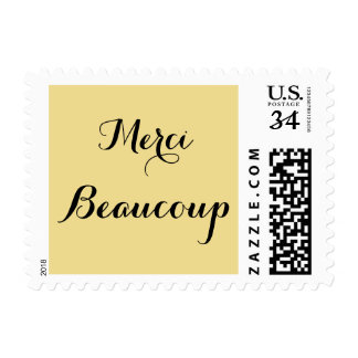 Merci Beaucoup Thank You Very Much Postage Stamp