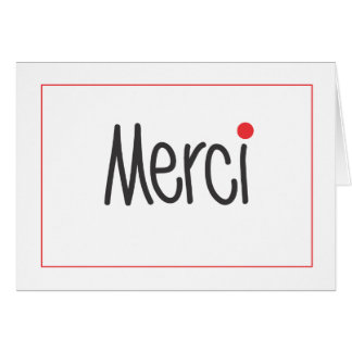 Merci Business Thank You Note in any language Stationery Note Card