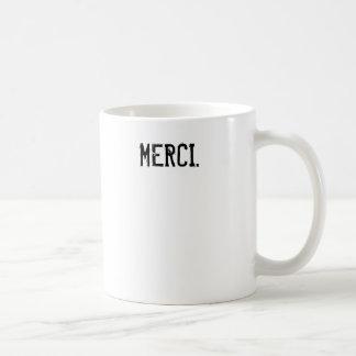 Merci Coffee Classic White Coffee Mug