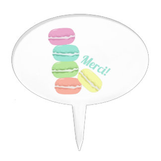 Merci! Cookies Cake Toppers