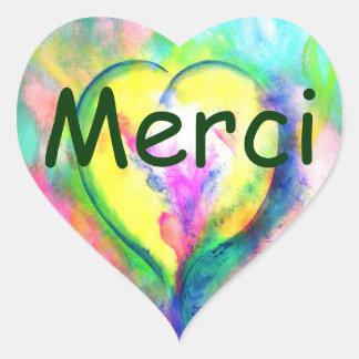 Merci du Coeur auto-collant Heart Sticker