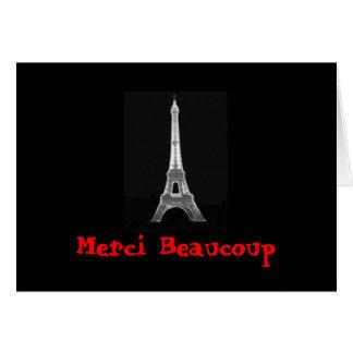 Merci Eiffel Thank You Card