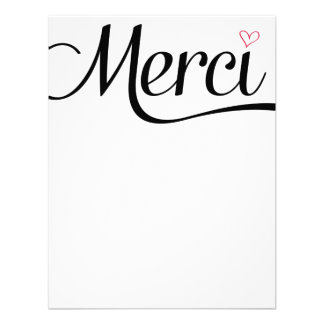 Merci Flat Thank You Notes Custom Announcements