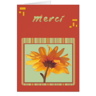 merci - flower-power card