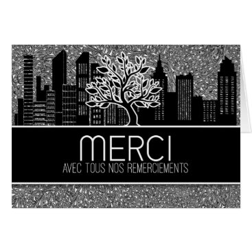 Professional Business Merci French Business Thank You Blank Card