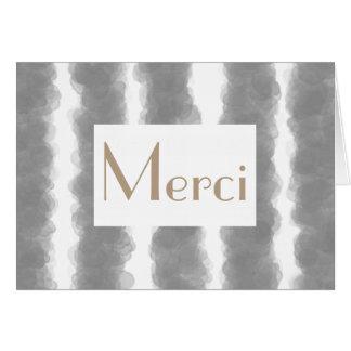 Merci French Stripe Thank You Card