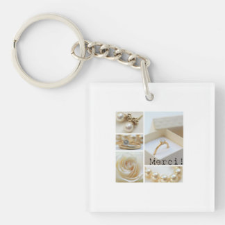 Merci La Sposa di Sabbia Wedding Favor Keychain