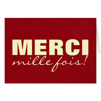 MERCI mille fois Greeting Cards