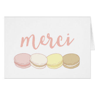 Merci Pastel French Macarons Thank You Card