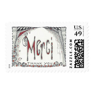 """Merci"" Postage in 3 sizes"