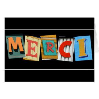 MERCI thank you card