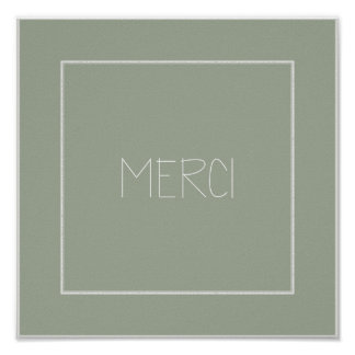 MERCI - Thank You - French Poster