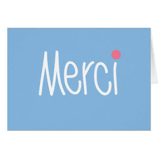 Merci - Thank you in any language Stationery Note Card