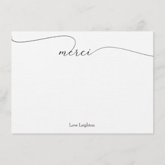 Merci Thank You Note Cards