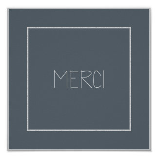 MERCI - Thank You Poster