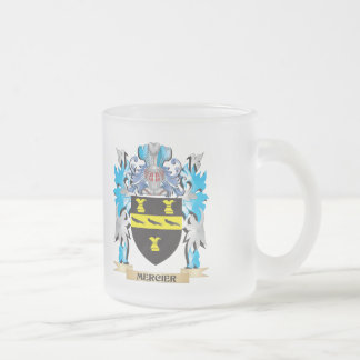 Mercier Coat of Arms - Family Crest 10 Oz Frosted Glass Coffee Mug