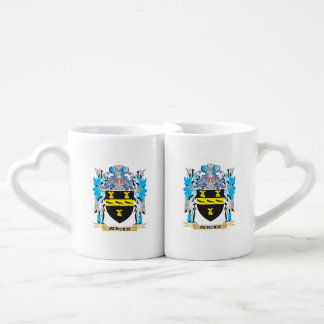 Mercier Coat of Arms - Family Crest Couples' Coffee Mug Set