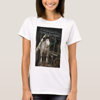 Merciful to Animals Lady Baby Doll T-Shirt