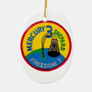 Mercury 3: Freedom 7 Alan Shepherd Ceramic Ornament