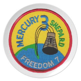 Mercury 3: Freedom 7 Alan Shepherd Dinner Plate