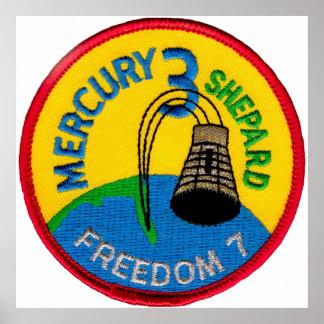 Mercury 3: Freedom 7 Alan Shepherd Posters