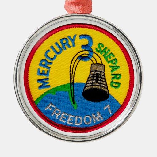 Mercury 3: Pastor de Alan de la libertad 7 Adorno Redondo Plateado
