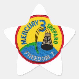 Mercury 3: Pastor de Alan de la libertad 7 Pegatina En Forma De Estrella