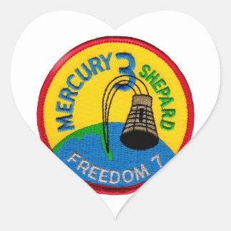 Mercury 3: Pastor de Alan de la libertad 7 Pegatina En Forma De Corazón