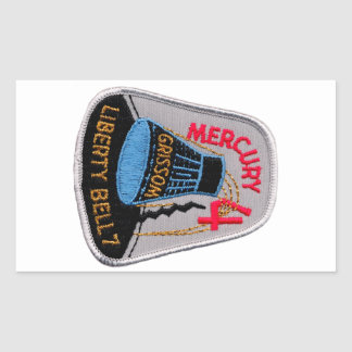 Mercury 4: Gus Grissom de Liberty Bell 7 Pegatina Rectangular