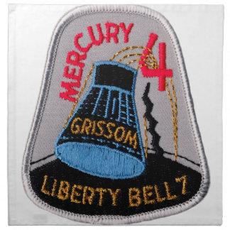 Mercury 4: Gus Grissom de Liberty Bell 7 Servilleta De Papel