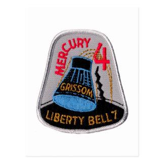 Mercury 4: Gus Grissom de Liberty Bell 7 Postales