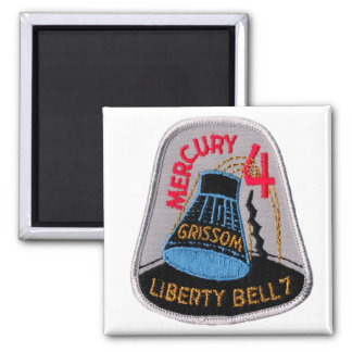 Mercury 4: Liberty Bell 7 Gus Grissom 2 Inch Square Magnet