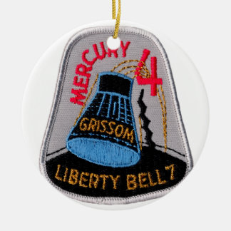 Mercury 4: Liberty Bell 7 Gus Grissom Ceramic Ornament
