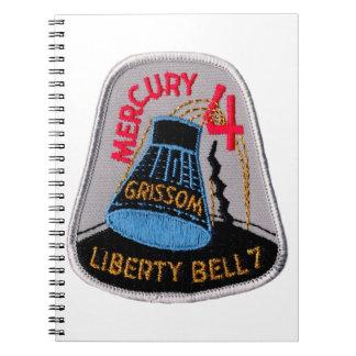 Mercury 4: Liberty Bell 7 Gus Grissom Spiral Notebook