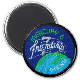 Mercury 6: Friendship 7 – John Glenn 2 Inch Round Magnet