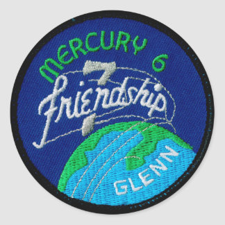 Mercury 6: Friendship 7 – John Glenn Classic Round Sticker