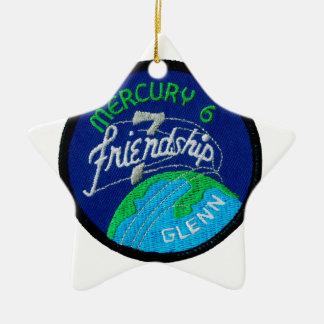 Mercury 6: Friendship 7 – John Glenn Double-Sided Star Ceramic Christmas Ornament