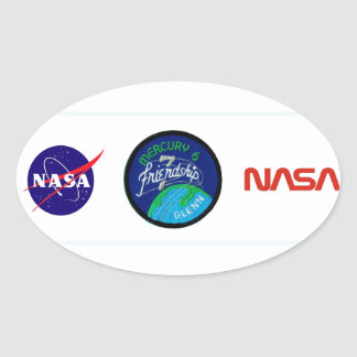 Mercury 6: Friendship 7 – John Glenn Oval Stickers